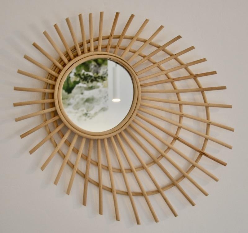 Rotin papier peint vert jungle hannah elizabeth interior design
