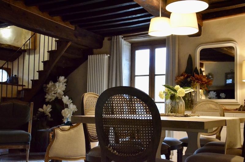 Salle a manger plafond francaise hannah elizabeth interior design