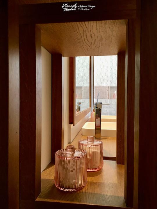 Salle d eau blanc bois cuivre hannah elizabeth interior design