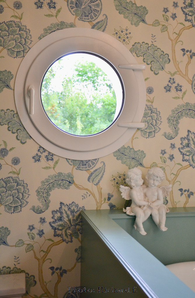 Salle de bain anges vert deau hannah elizabeth interior design