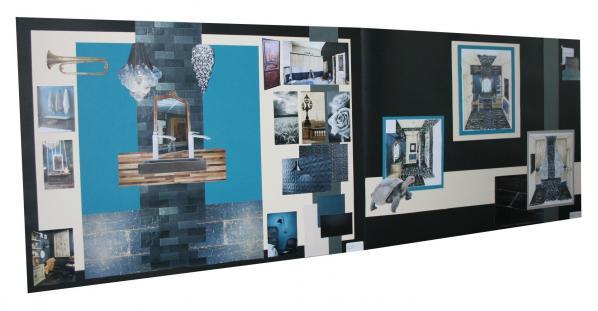 Salle de bain bleu petrole hannahelizabethinteriordesign