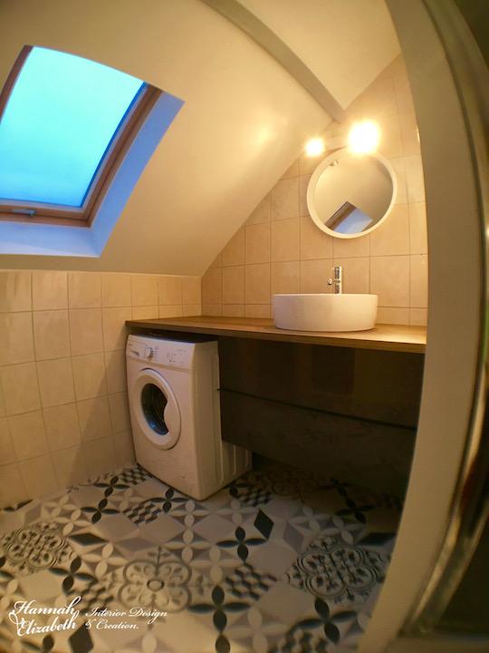 Salle de bain imitation carreaux ciment