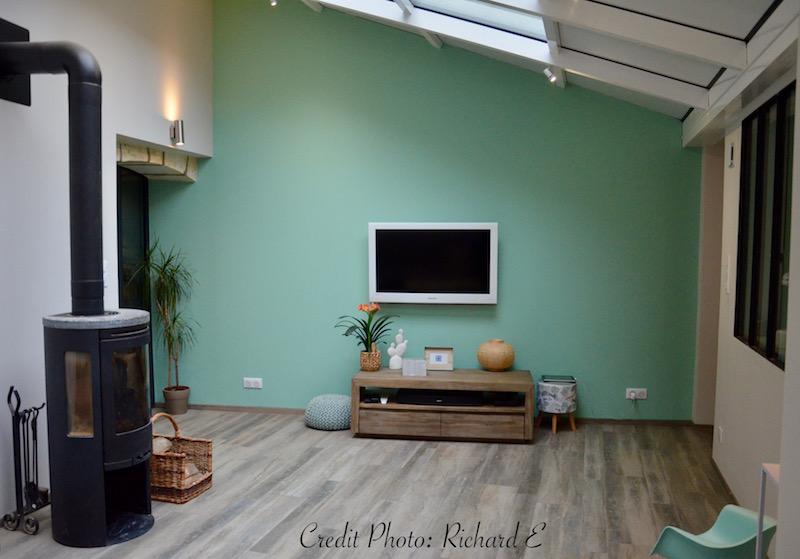 Salon entree poele bois veranda hannah elizabeth interior design