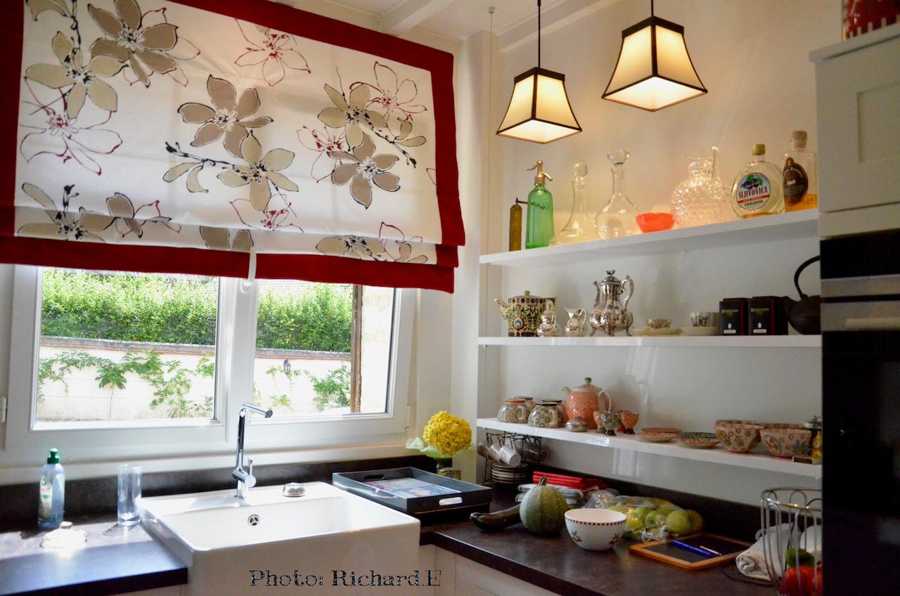 Store cuisine plan travail gris anthracite hannah elizabeth interior design