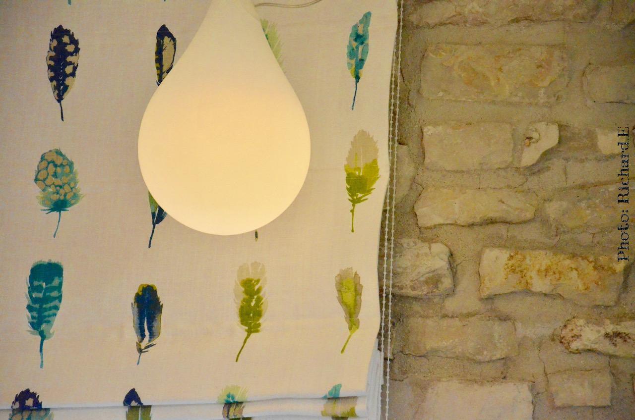 Store tissu plumes sanderson harlequin mur pierre hannah elizabeth interior design