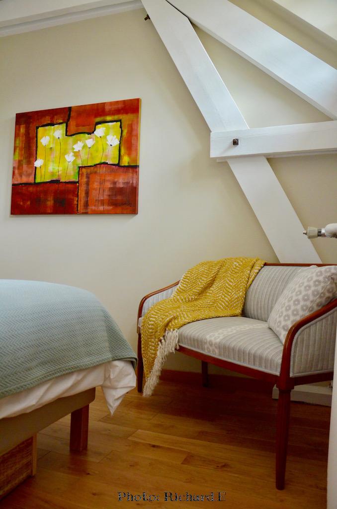 Tableau contemporain chambre romantique oiseau hannah elizabeth interior design