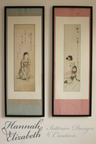 Tableaux japonais chambre amis