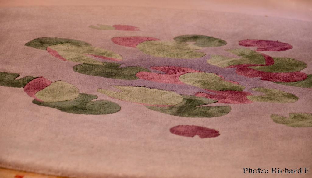 Tapis soie laine lilypond deidredyson hannah elizabeth interior design