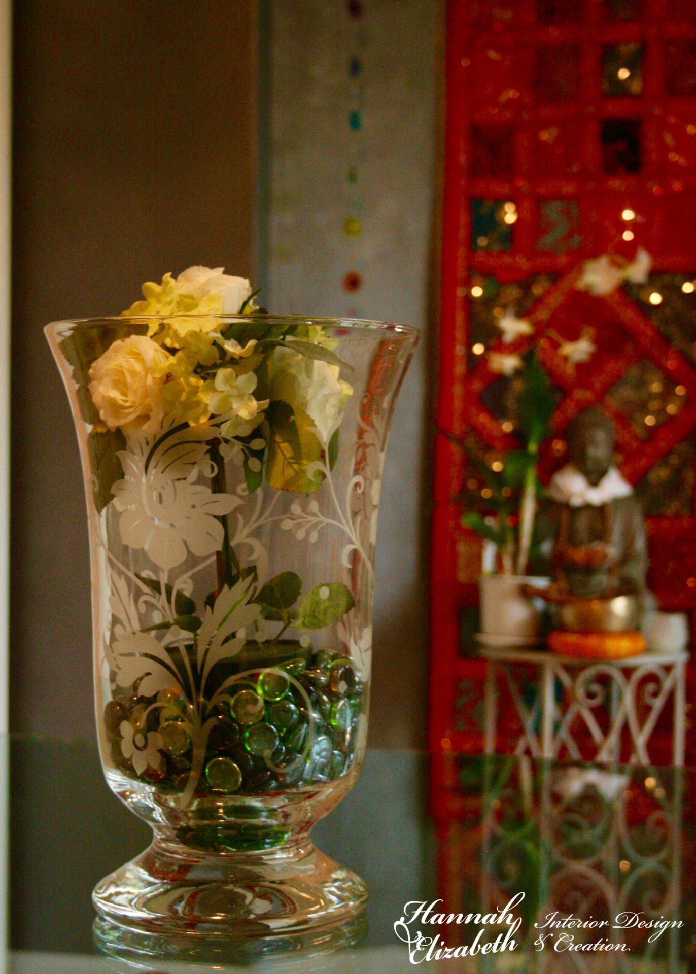 Vase et table a langer verre