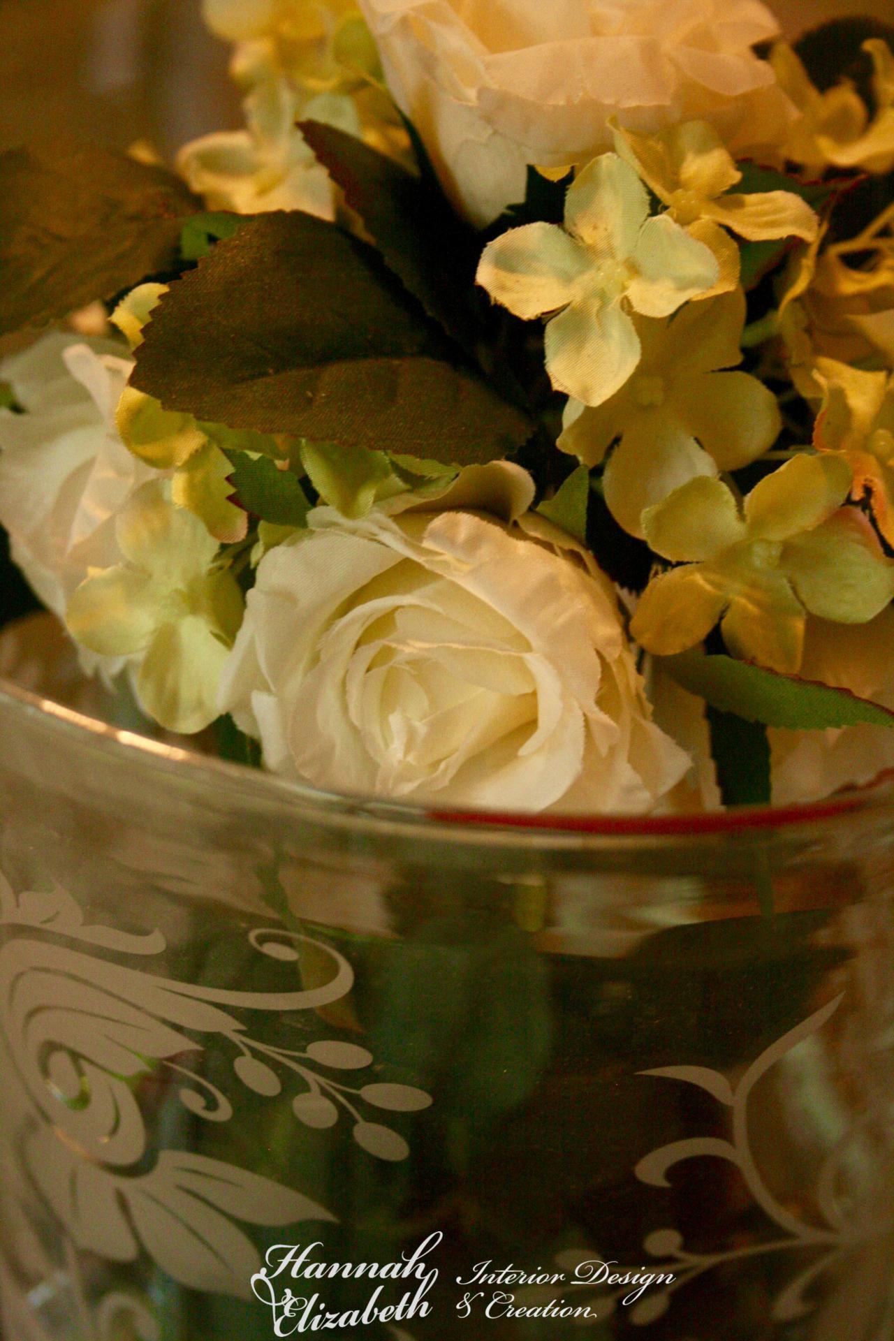 Vase fleurs blanche