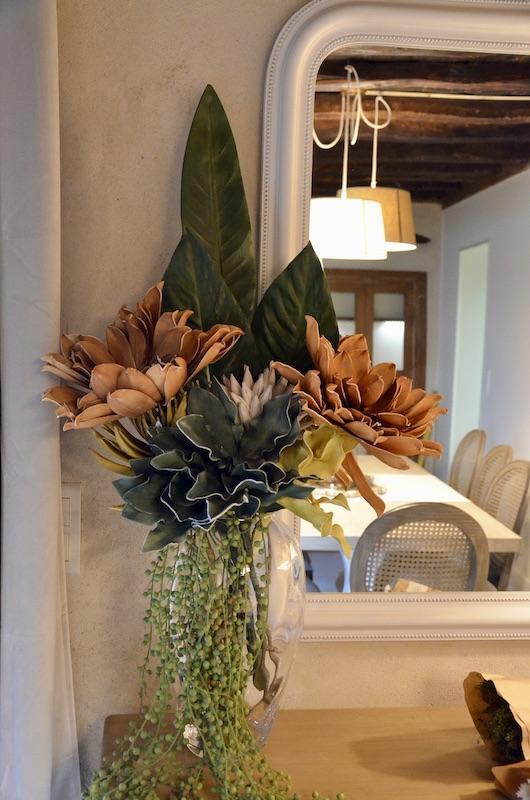 Vase fleurs miroir blanc hannah eelizabeth interior design