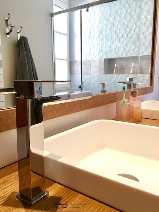 Vasque blanc faience cuivre hannah elizabeth interior design